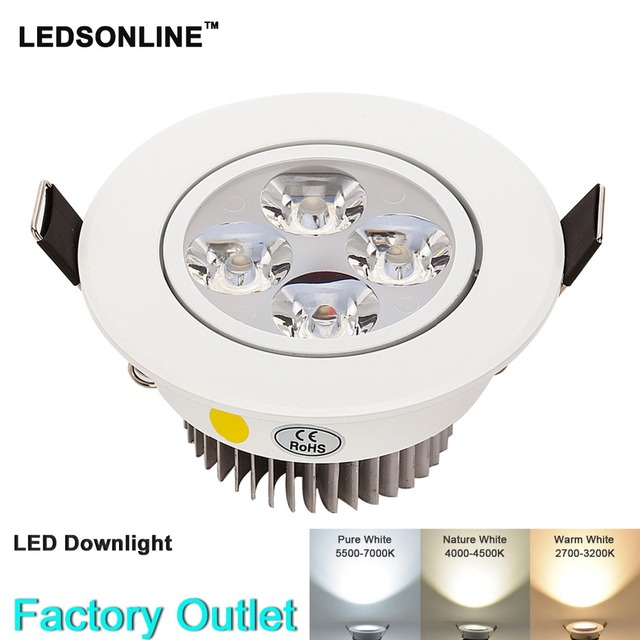 1pcs Dimmable LED Recessed Downlight 4W 3W 270-360 lm Cut hole Warm Nature  Pure
