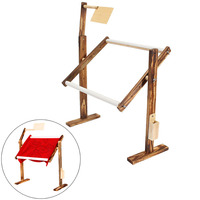 Adjustable Stand Desktop Embroidery Cross Stitch Frame Hoop Rack Solid Wood