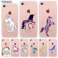 YIMAOC Cute unicorn Horse Animal Soft Silicone Phone Shell Case for
