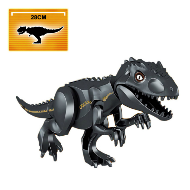 Legoings Jurassic World 2 Dinosaurs Building Blocks Tyrannosaurus Rex Indominu I-Rex Dinosaurs Figures Bricks Assemble Kids Toys 2 pcs set xl jurassic dinosaurs indominus rex and t rex gyrospheres