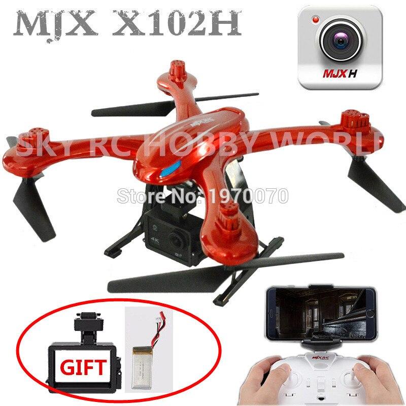 MJX X102H 2.4G RC Quadcopter Drone Com Modo de Altitude de Pressão de Ar alta Set FPV Câmera Wi fi Um Retorno decolar de Pouso