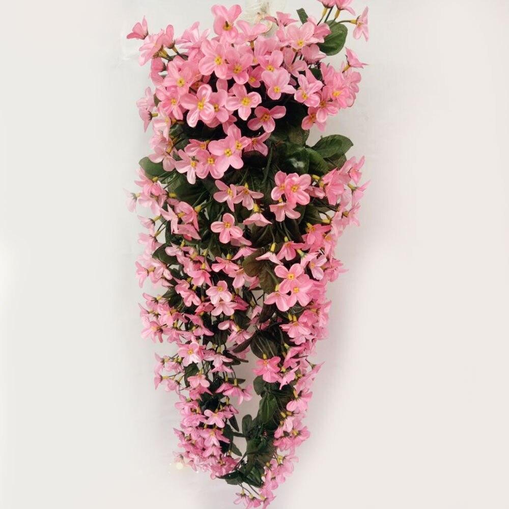 Шелковые ткани искусственные цветы цветок лоза вечерние украшения корзина для цветов Декор Европейский Свадебный декор домашний декор балкон - Цвет: pink