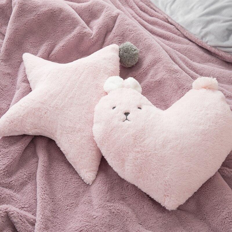 40cm white/grey/pink/cameo rabbit heart/star plush cushion pillow White Fluffy Throw Pillows