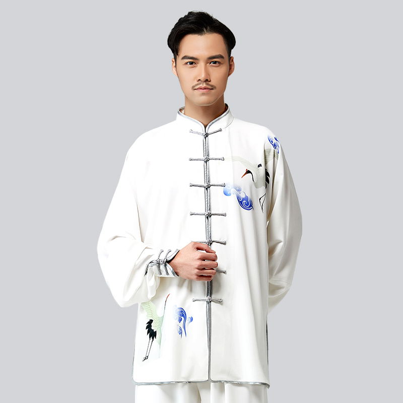 2018 New Tai Chi Spring And Autumn Four Customs Red-crowned Crane Printing Practice Serve Quinquagenarian Taiji Boxing Serve