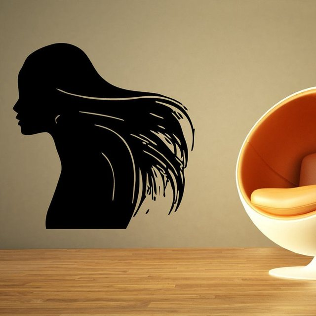 Hair Salon Sticker Beauty Scissors Decal Haircut Name Posters Vinyl ...
