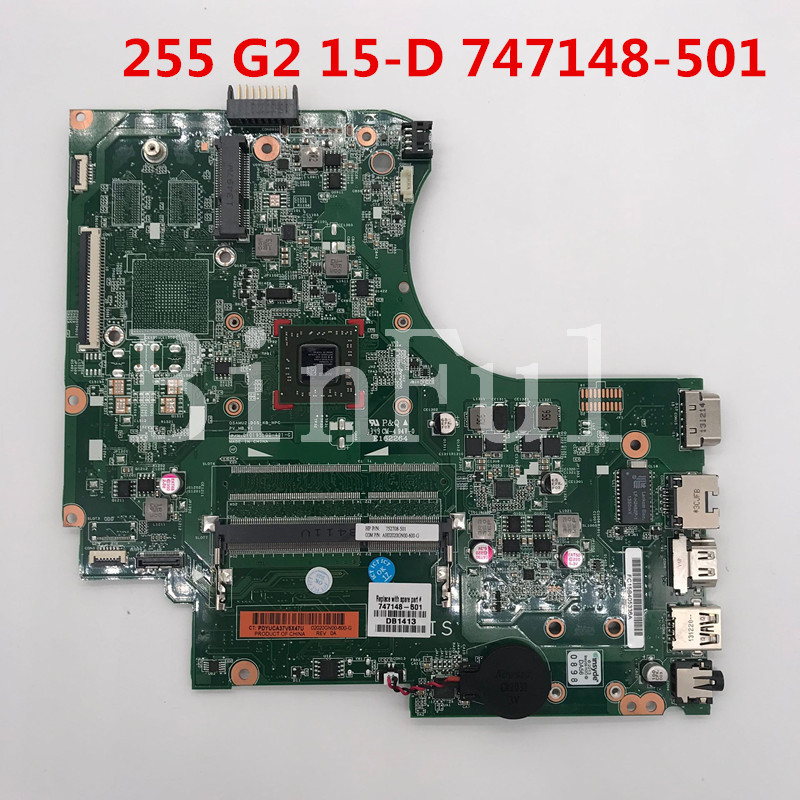 High quality For 255 G2 15-D Laptop motherboard 747148-001 747148-501 747148-601 010195L00-491-G A4-5000 DDR3 100% full Tested