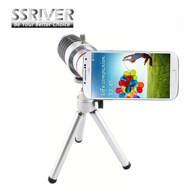 Ssriver para samsung galaxy s4 i9500 18x 18x de zoom de la lente gopro Caso de la Cubierta de lente de la cámara Lente de 18x de Zoom de la lente Smartphone Caso Trípode