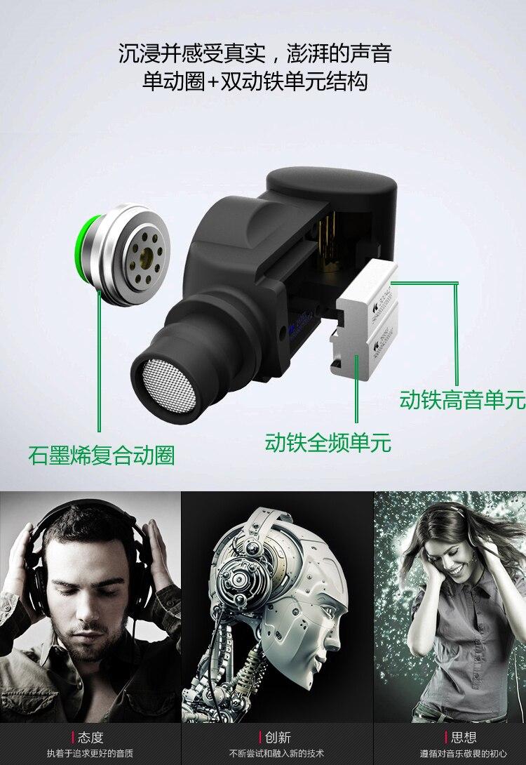 Novi SENFER XBA 6in1 1DD + 2BA Hybrid 3 slušalica s jedinicom za uho - Prijenosni audio i video - Foto 4