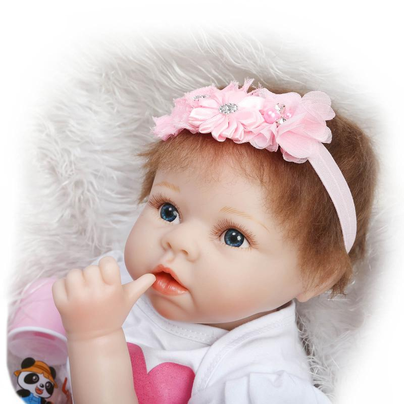 22 inch 55CM Reborn Baby Silicone Vinyl Dolls Handmade Realistic Lovely Baby Brinquedos Accompany Sleeping Toys Novelty Gifts гамак ticket to the moon moonhammock king