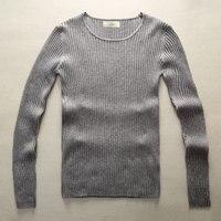 Модный мужской вязаный свитер, мужские стильные черные теплые свитера, приталенный вязаный узор, Рождество