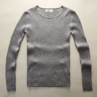 Fashion Men Knitted Sweater Mens Stylish Black Warm Sweaters Slim Fit Knitting Pattern Christmas