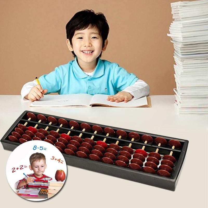 Abacus 13 столбцов детские математические наклоненные мозг развивающие игрушки Soroban