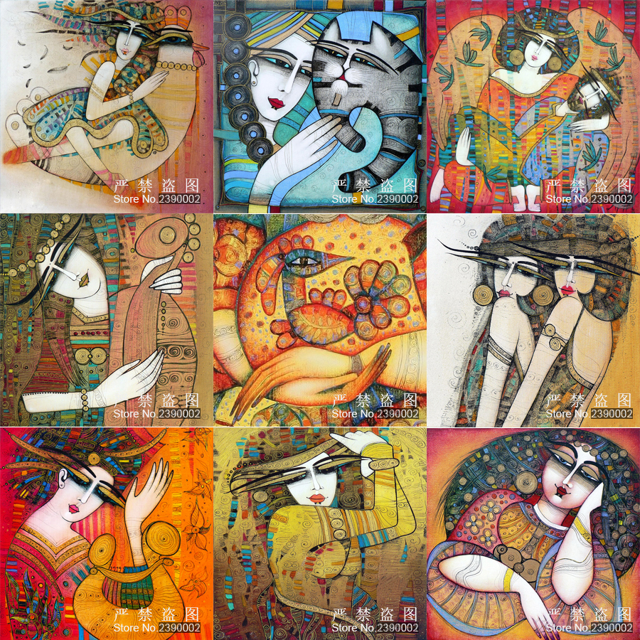 Abstract Painting 5D Diy Diamond Painting Woman And Cat Diamond Mosaic Embroidery Home Decor Needlework Painting Cross Stitch