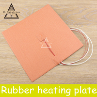 3d Printer Accessories 200X200mm 500W 220V 110V 24V Cube Flexible Silicone Heater Prusa I3 RepRap 3D