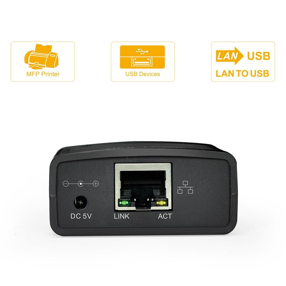 Image 4 - USB 2,0 LRP Сервер печати Поделиться LAN Ethernet сетевой принтер адаптер usb концентратор 100 Мбит сетевой сервер печати-in Серверы печати from Компьютер и офис