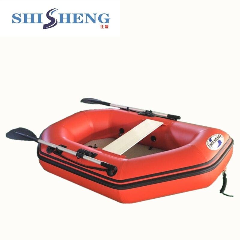 CE bateau gonflable 0.9mm PVC pas cher petit bateau de pêche rouge