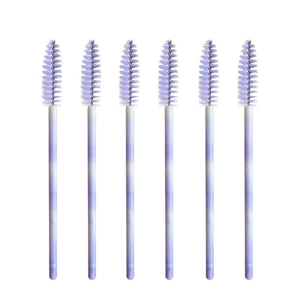 100 шт., светло-фиолетовая одноразовая кисть для ресниц, палочка для бровей, кисти для ресниц, ресницы, палочки для ресниц, аппликатор, наборы для макияжа
