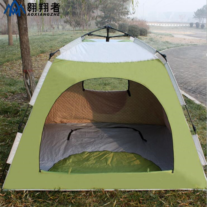 Camping Tent Single Layer 3 4 Person Carbon Fiber Quick Automatic Opening Fishing Climbing Cycling Travel Winter Keep Warm Tent