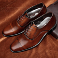 Hot Sale Men Shoes Business Dress Pointed Flats Shoes Genuine Leather Flat Shoes Brand Oxford Wedding Shoes Plus Size 38-47