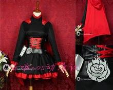 Envío Gratis rwby rojo Remolques Ruby Rose Cosplay traje Halloween partido 668c7460104d