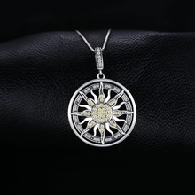 Sterling Silver Cubic Zirconia Celestial Sun Pendant Jewelry
