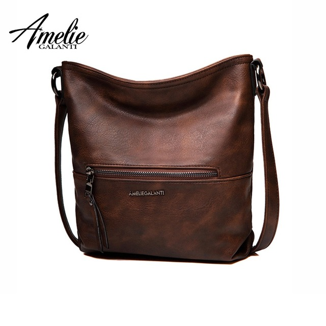 AMELIE GALANTI Women's Small Crossbody Shoulder Bags Messenger Bag Shoulder Bags PU Leather Hobo Bag