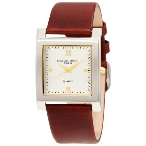 Unitron Enterprise 3688-W Mens Dark Brown Leather Band White Dial Watch white ceramics band design mens leisure watch
