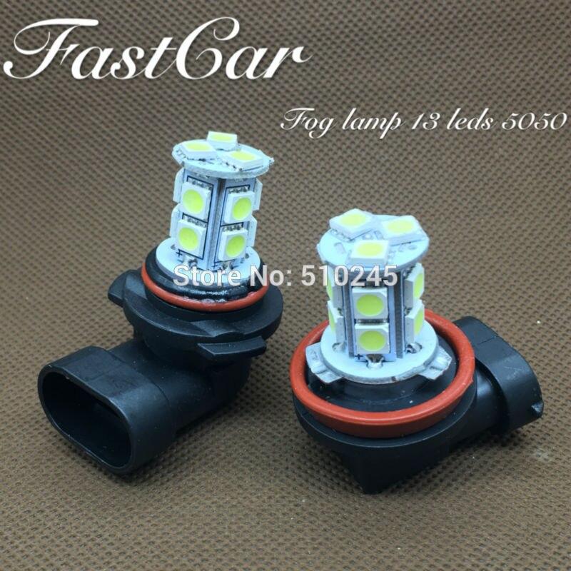 50x auto-styling Dell'automobile led lampada della nebbia h4 H7 H8 H9 H11 9005 9006 13 leds 5050 di alta qualità della luce di nebbia Spedizione gratuita