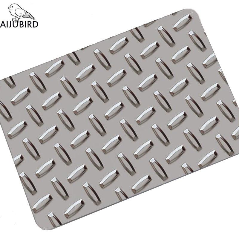 Le 3D tampon en caoutchouc paillasson de porte d'entrée absorbe l'eau et anti-dérapage cuisine salle de bain tapis de sol 3mm d'épaisseur, super mince pas Carmen