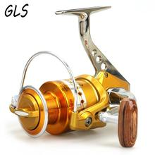 12 + 1 shaft without clearance metal reel, metal aluminum main body fishing reel fishing wheel. Rotary reel, fishing wheel