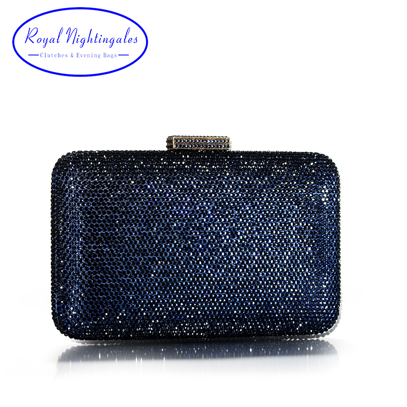 High Quality Large Square Hard Box Clutch Navy Crystals Evening Bags for Matching Shoes and Womens Wedding Prom Evening Party 1pc white or green polishing paste wax polishing compounds for high lustre finishing on steels hard metals durale quality