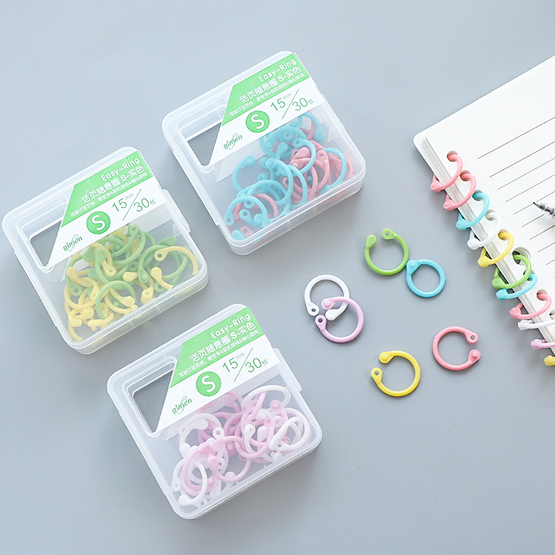 2 Boxes Creative Plastic Multi-Function Circle Ring DIY Albums Loose-Leaf Book Binder Hoops Office Binding Supplies