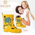 2016 новые детские мультики резиновая 3 цвета мода дети противоскользящих резиновые сапоги девочек и мальчиков водонепроницаемый обувь 3 - 16 лет, Hj051