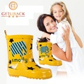 2016 crianças novas dos desenhos animados Rainboots 3 cores da moda crianças antiderrapante galochas meninas e meninos à prova d ' água sapatos 3 - 16 anos, Hj051