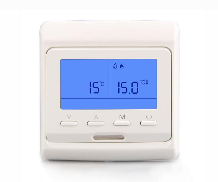 Large Screen LCD Thermostat Panel Plumbing Fireplace Temperature Regulator Room Central Air Conditioning Controller