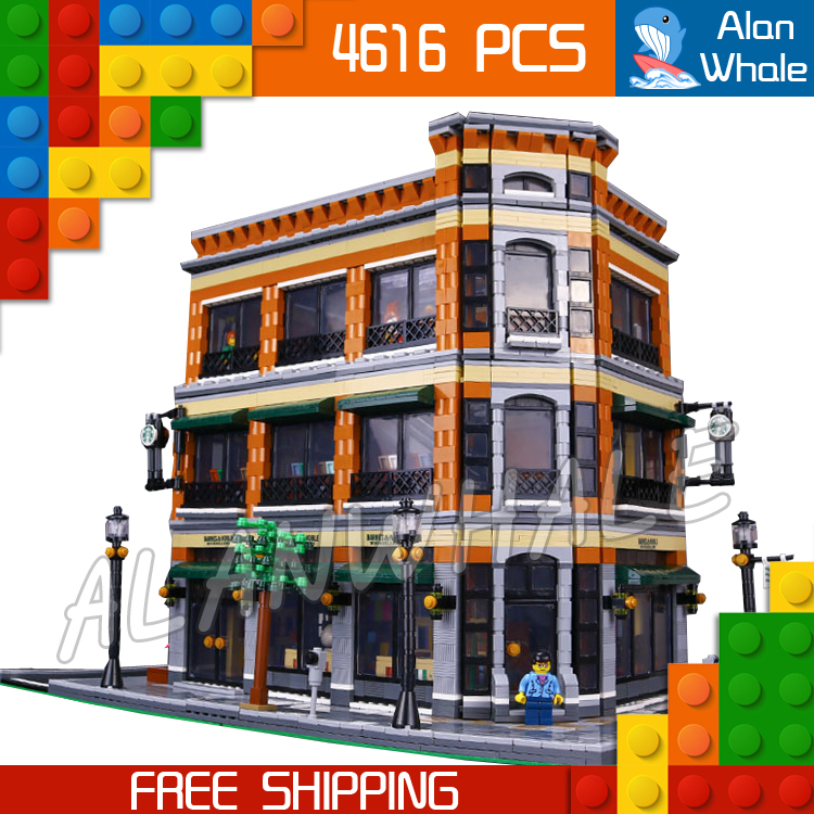 4616pcs New 15017 DIY Cafe bookstore Figure Modular Building series Kit Blocks Gifts Toys Compatible With <font><b>LegoING</b></font> image