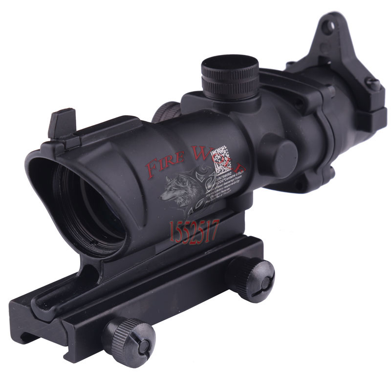 ФОТО Outdoor sports Trijicon ACOG 4x32 with Iron Sights 20mm weaver picatinny rail mounts Tactical Hunting Riflescope