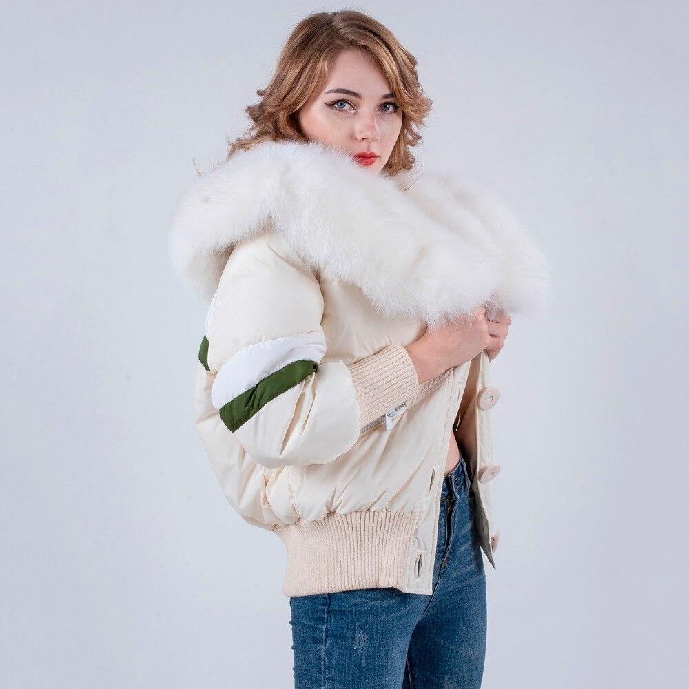 Winter down coat กับขนสุนัขจิ้งจอกจริงขนสัตว์สูง quilted ผู้หญิงลงเสื้อแจ็คเก็ต-ใน แจ็กเก็ตแบบเบสิก จาก เสื้อผ้าสตรี บน   2
