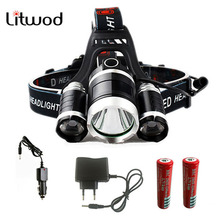 z55 head torch 3 t6 headlamp cree 3XML t6 led Headlight  4Modes head flashlight 9000Lumen hunting led head lamp