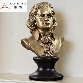 European music figures Home Furnishing Azera Beethoven Mozart sculpture ornament Shakespeare celebrity ornaments