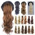 Новая Мода Коготь Хвост Расширение Вьющиеся Конский Хвост 22 inch 55 см 170 г Волнистые Синтетические Наращивание Волос Naural Волосы кусок Оптовая
