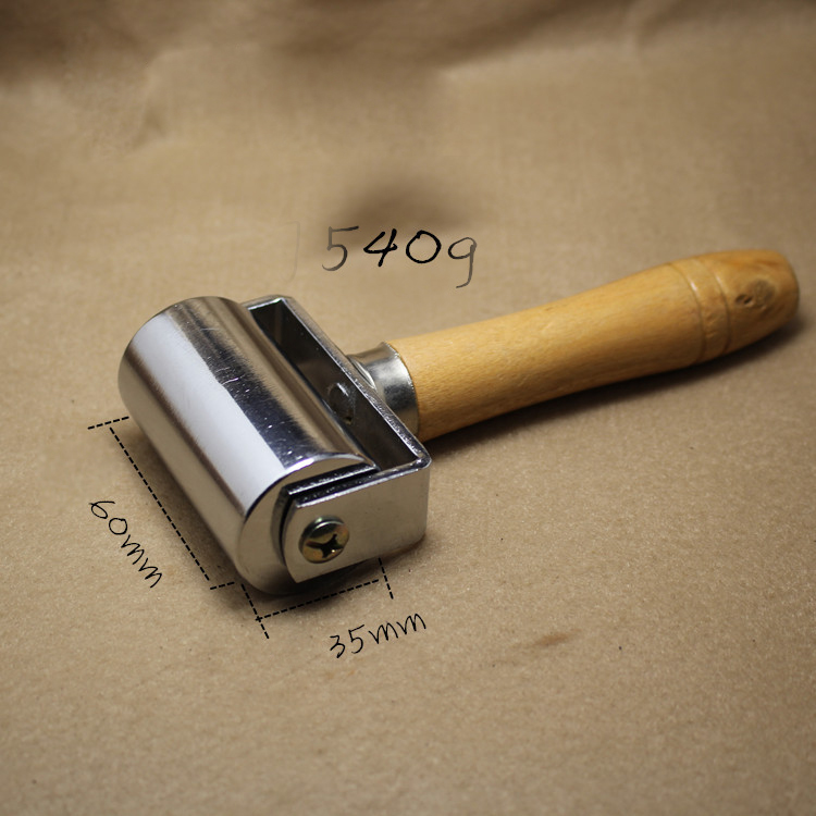 60mm Blankholder Platen Tools Leather Roller Glue Edges and Crease Leathers Tool 1Pcs platen inv32s12s ssi320a12 rev0 6 used disassemble