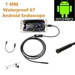 Nowy 2m dla androida iPhone 7MM endoskop wodoodporny wziernik optyczny kamera 8 LED długa efektywna ogniskowa DFDF|Endoskop i wada narzędzie do wykrywania|   -