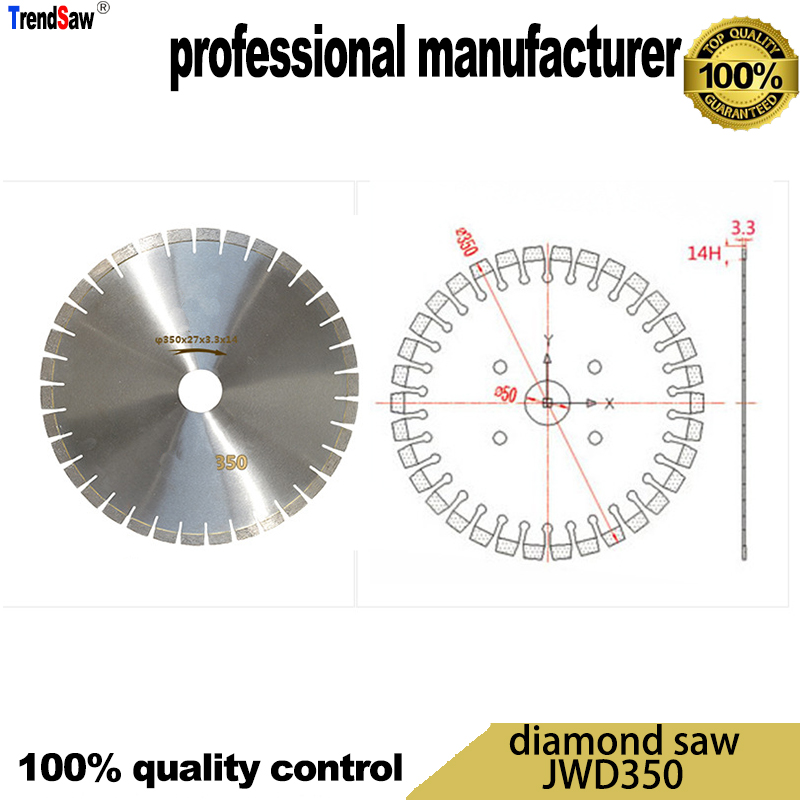 350MM Diamond saw for Granite cutting from professional company at good price and fast delivery
