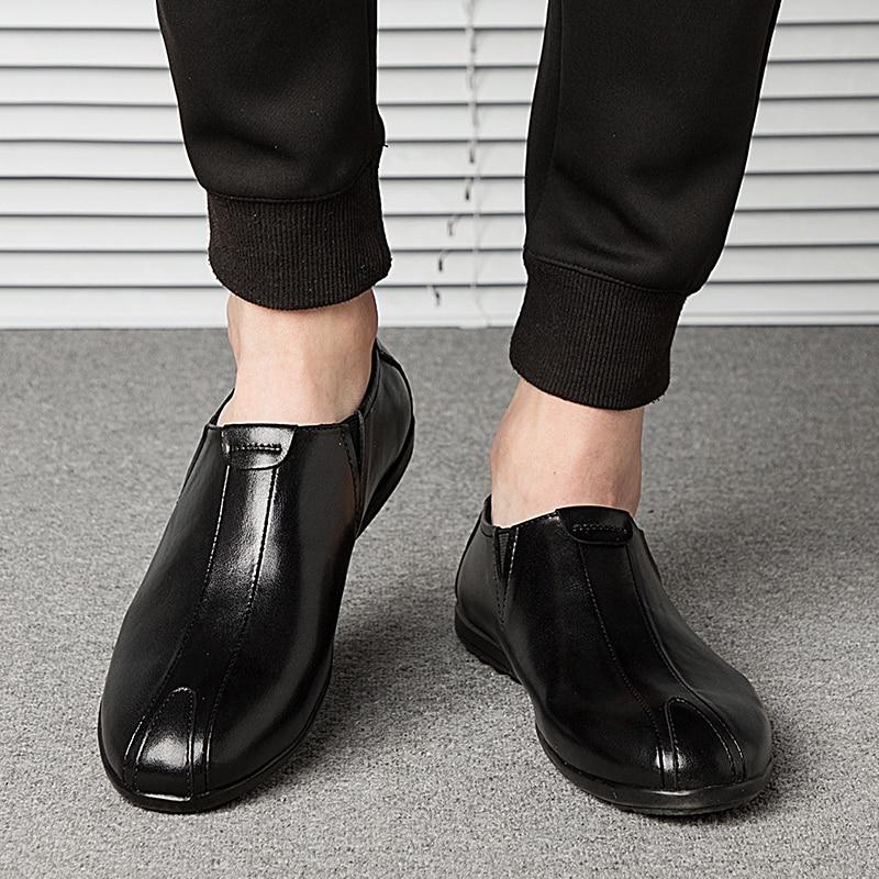 NINYOO ainulaadne disain Meeste vabaajajalatsid Ehtne nahast kingad - Meeste jalatsid - Foto 5