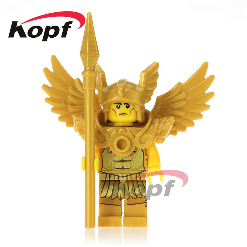 Single Sale Super Heroes Saint Seiya Evil Knight Hun Warrior Historic Site Quest Bricks Building Blocks Toys for children XH 635