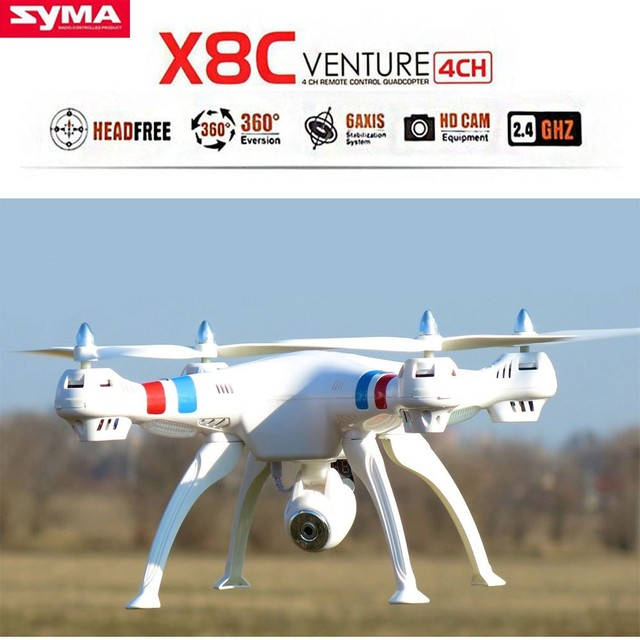 Original SYMA X8C 2.4 Ghz 6-Axis Gyro RC Quadcopter RTF Com Câmera 2.0MP HD RC Helicóptero