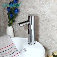 KEMAIDI Bathroom Basin Sink Faucet Chrome Polished Automatic Sensor Faucet Hot & Cold Water Mixer Tap Touch Sense Faucet