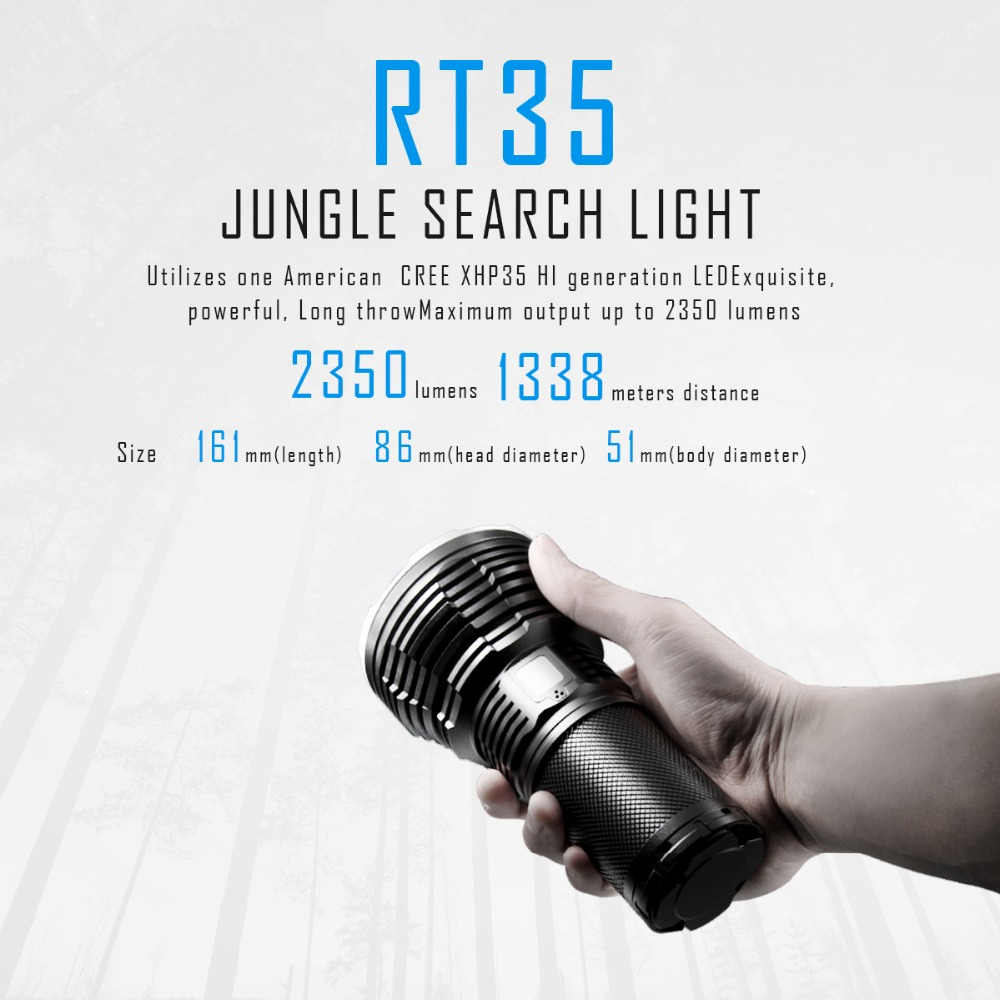 IMALENT RT35 CREE XHP35 Intelligent charging Jungle search light maximum output of 2350 Lumens far away