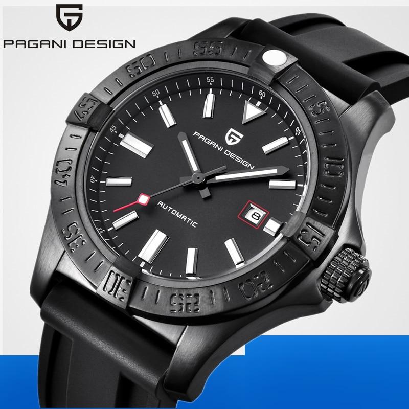 PAGANI DESIGN décontracté Reloj Hombre marque de luxe étanche antichoc automatique mécanique montre Relogio Masculino